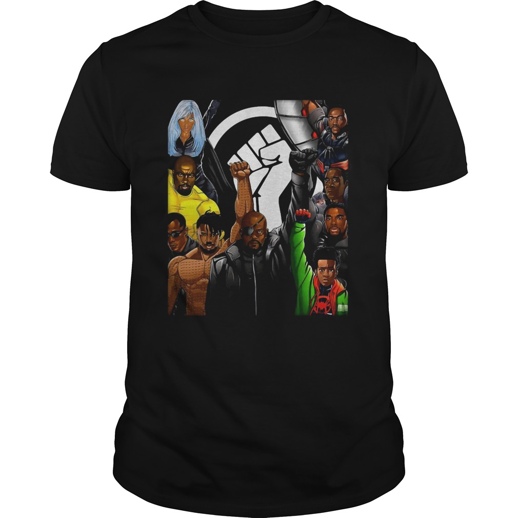 Superheroes No Justice No Peace Black Lives Matter  Unisex