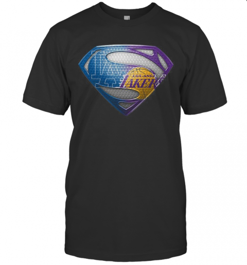 Superman Los Angeles Dodgers And Los Angeles Lakers T-Shirt Classic Men's T-shirt