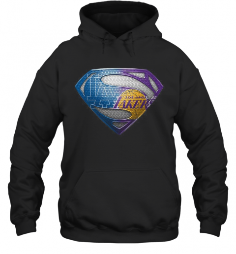 Superman Los Angeles Dodgers And Los Angeles Lakers T-Shirt Unisex Hoodie