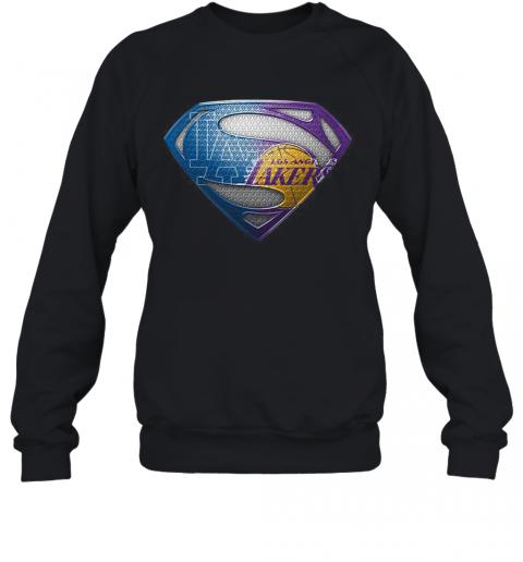 Superman Los Angeles Dodgers And Los Angeles Lakers T-Shirt Unisex Sweatshirt