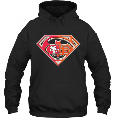 Superman San Francisco 49Ers And San Francisco Giants T-Shirt Unisex Hoodie