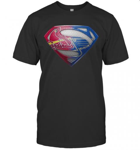 Superman St Louis Cardinals And St Louis Blues T-Shirt Classic Men's T-shirt