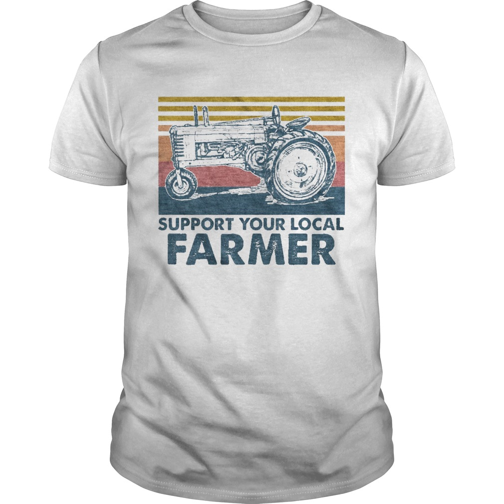 Support Your Local Farmer Agrimotor Vintage Retro  Unisex