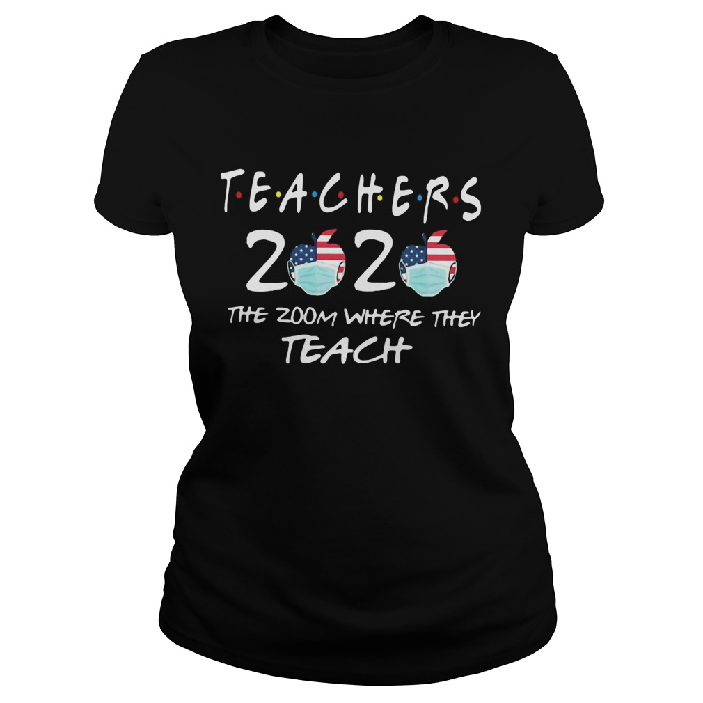 Teachers 2020 the zoom where they teach apple mask Classic Ladies