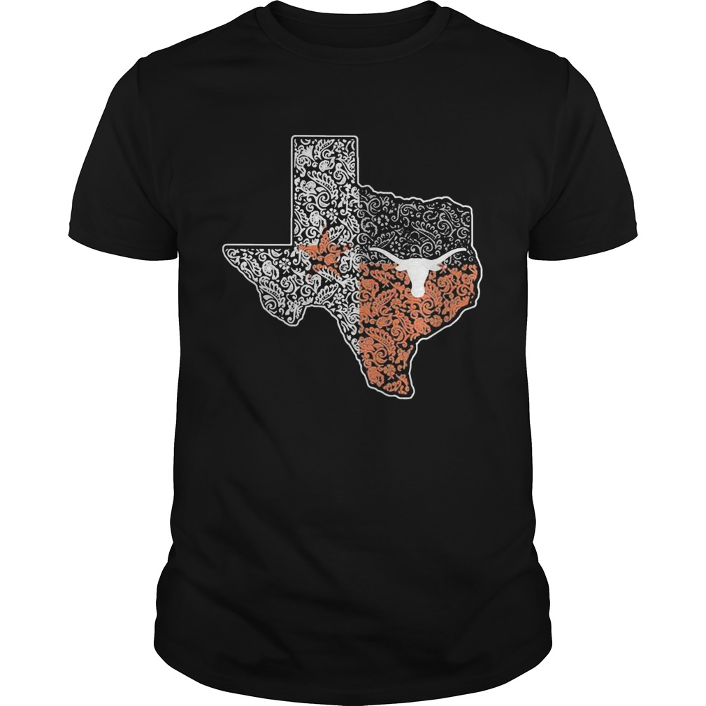 Texas Longhorns map football and Dallad Cowboy  Unisex
