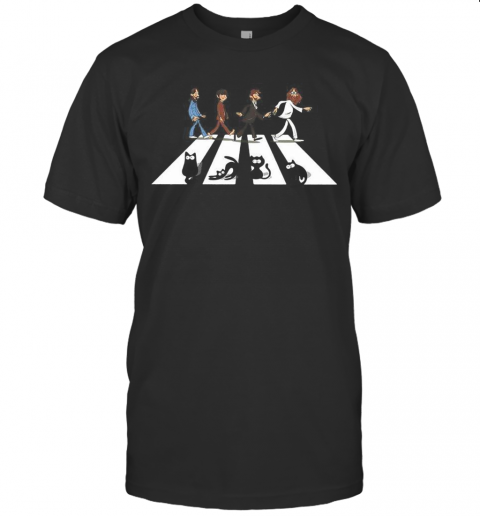 The Beatles And Black Cats Abbey Road T-Shirt Classic Men's T-shirt