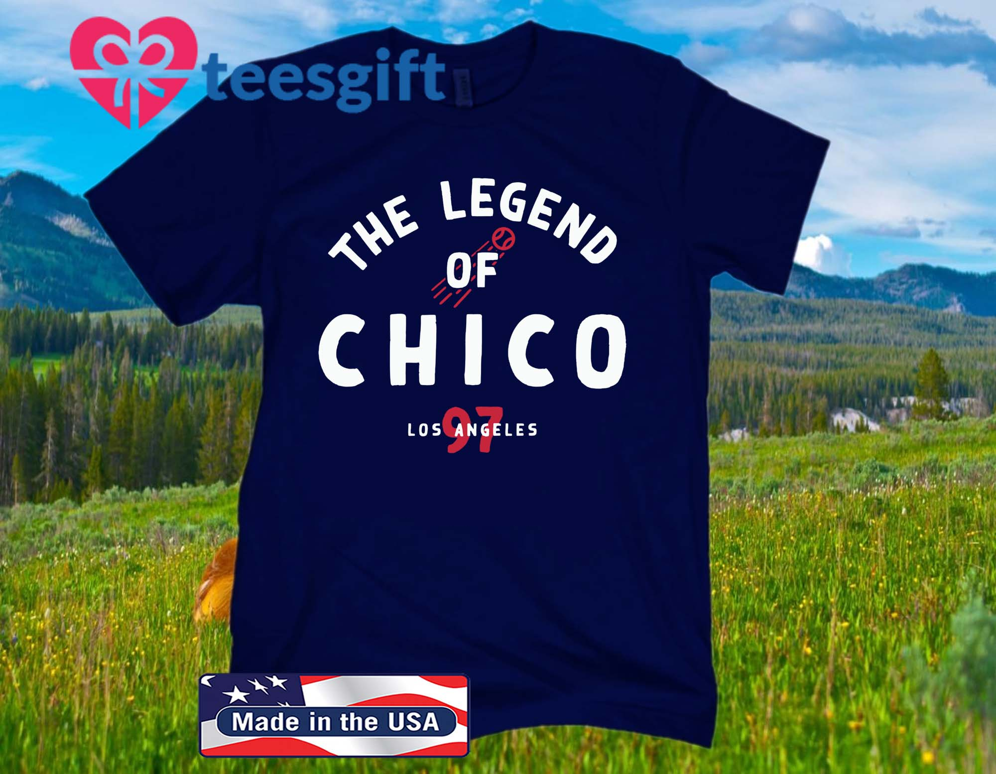 The Legend of Chico Official T-Shirt - Los Angeles Baseball