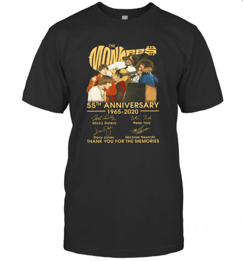 The Monkees 55Th Anniversary 1965 2020 Thank You For The Memories Signatures T-Shirt Classic Men's T-shirt