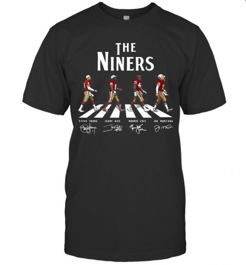 The Niners Football Team Abbey Road Signatures T-Shirt Classic Men's T-shirt