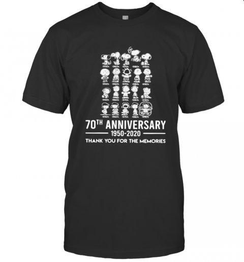 The Peanuts Cartoon 70Th Anniversary 1950 2020 Thank You For The Memories T-Shirt Classic Men's T-shirt