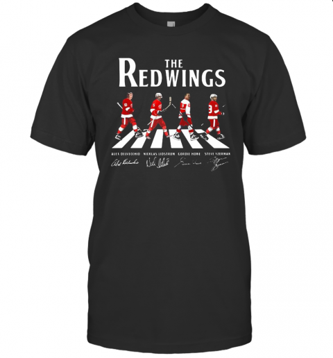 The Red Wings Hockey Team Abbey Road Signatures T-Shirt Classic Men's T-shirt