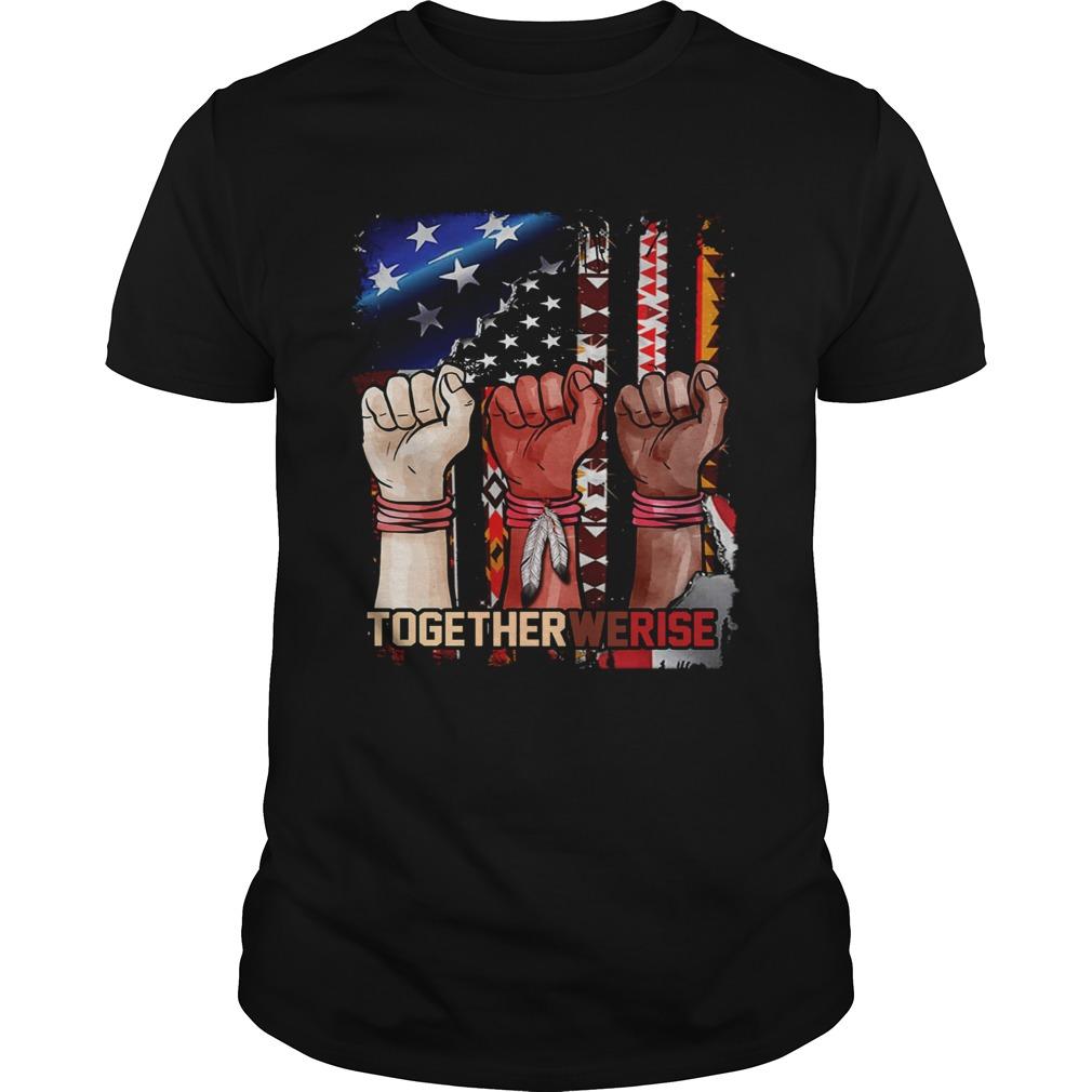 Together we rise black lives matter american flag  Unisex