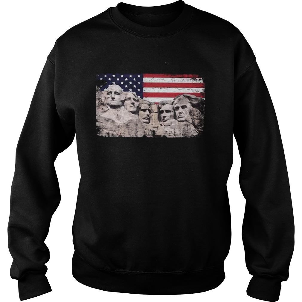 Trump 45th Added To Mount Rushmore  Sweatshirt