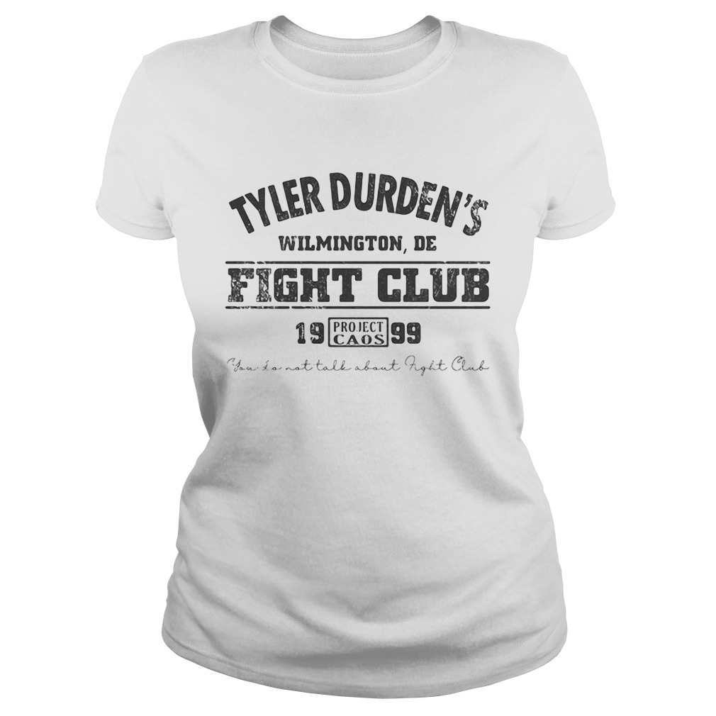 Tyler durdens wilmington de fight club 19 99 project caos youll not tall about fight club Classic Ladies