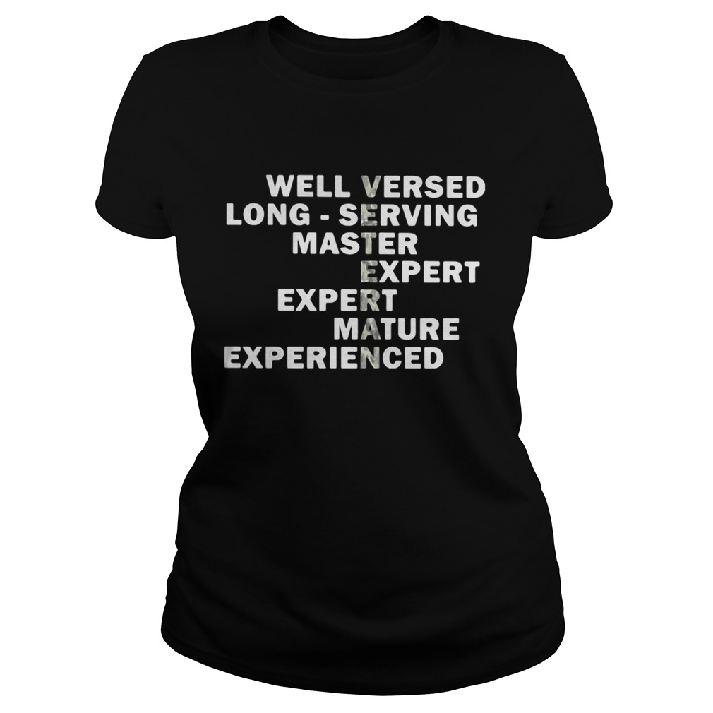 Veteran well versed long serving master expert mature experienced Classic Ladies
