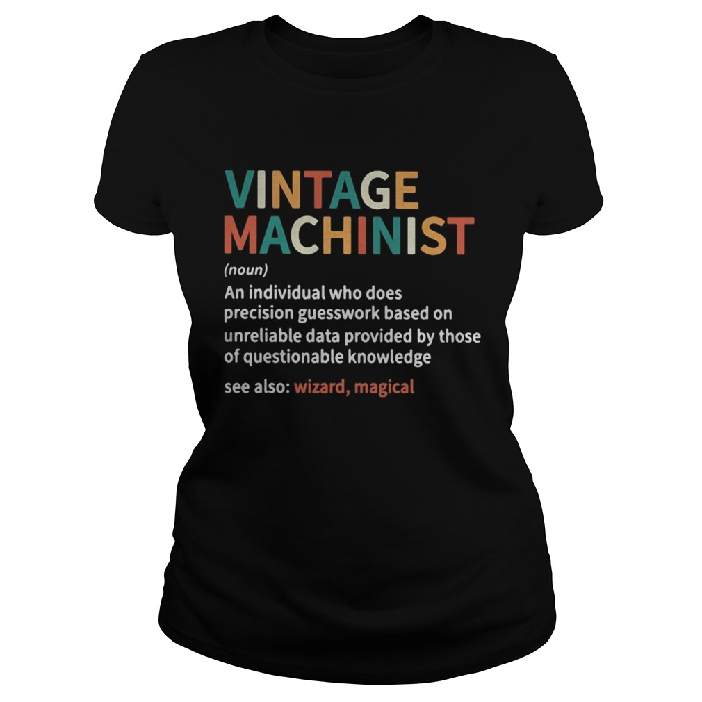 Vintage machinist noun an individual who does precision guesswork based on unreliable data provided Classic Ladies