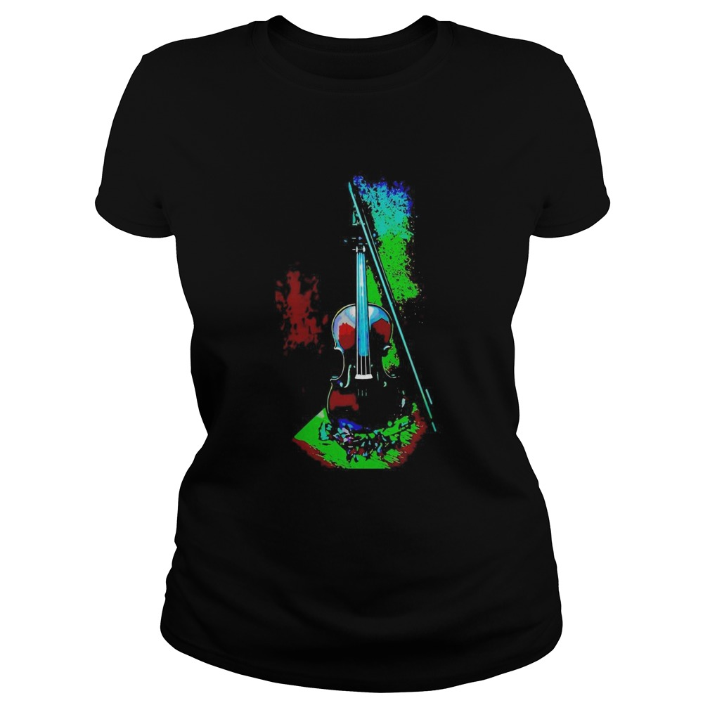Violin Hot And Cold Colors Classic Ladies