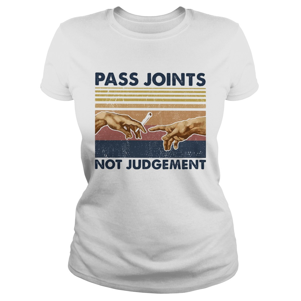 Weed pass joints not judgement vintage retro  Classic Ladies