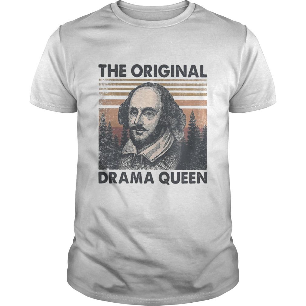 William shakespeare the original drama queen vintage retro  Unisex