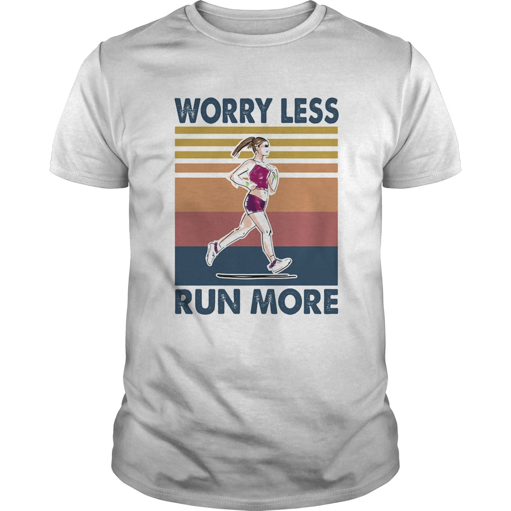 Worry Less Run More Vintage Retro  Unisex