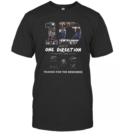 10 Years Of One Direction 2010 2020 Signatures T-Shirt Classic Men's T-shirt