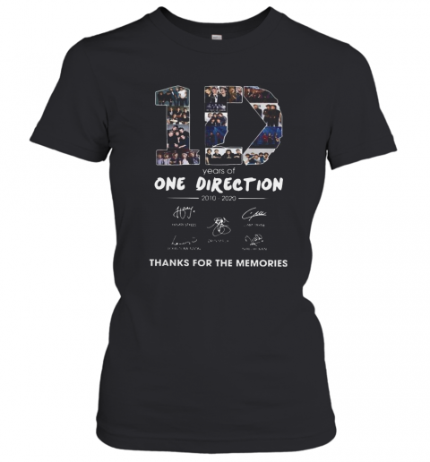 10 Years Of One Direction 2010 2020 Signatures T-Shirt Classic Women's T-shirt