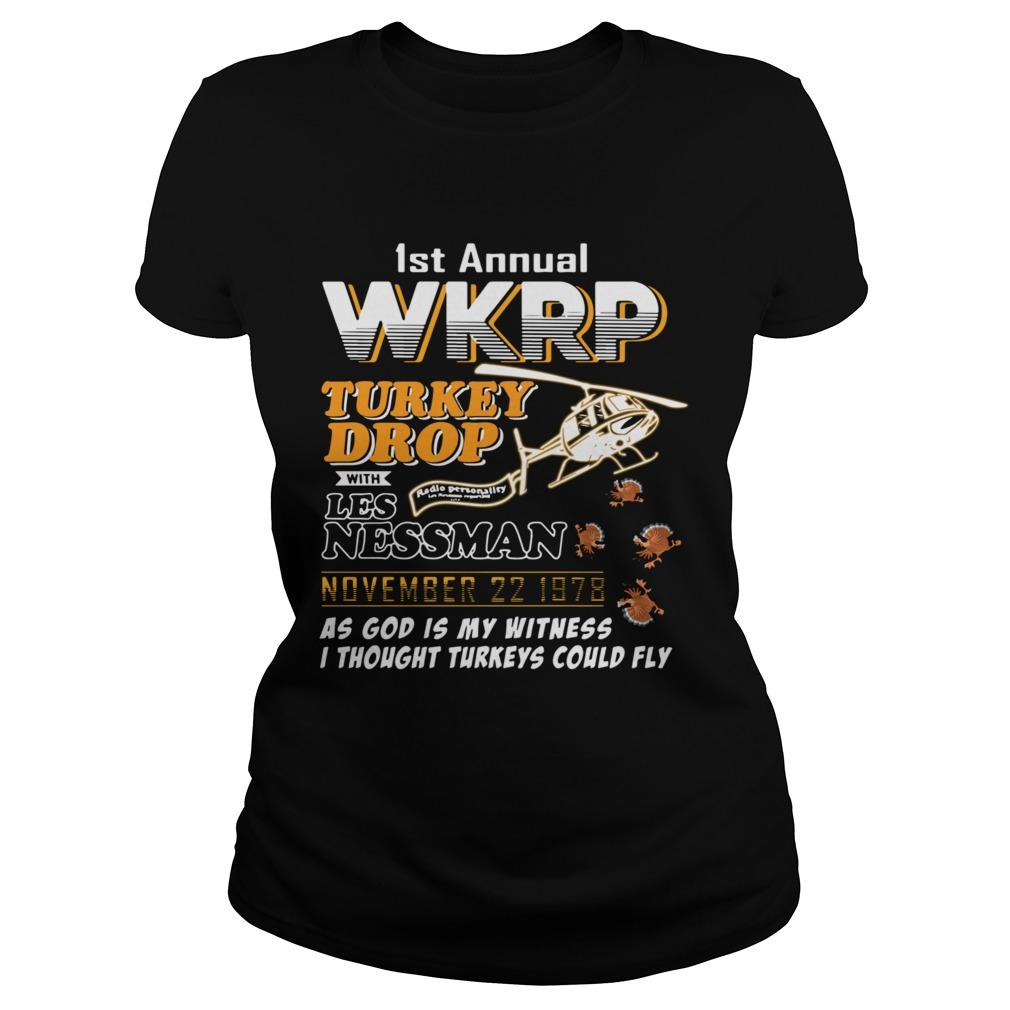 1st annual wkrp turkey drop with Les Nessman November 22 1978  Classic Ladies