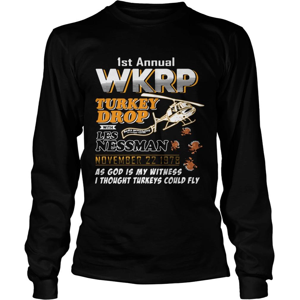 1st annual wkrp turkey drop with Les Nessman November 22 1978  Long Sleeve