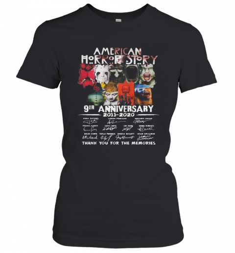 American Horror Story 9Th Anniversary 2011 2020 Thank You For The Memories T-Shirt Classic Women's T-shirt