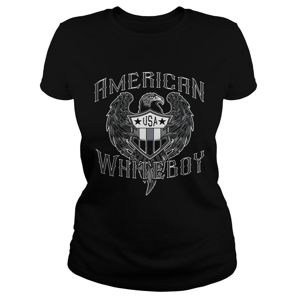 American White Boy Eagle Flag Shield Usa  Classic Ladies
