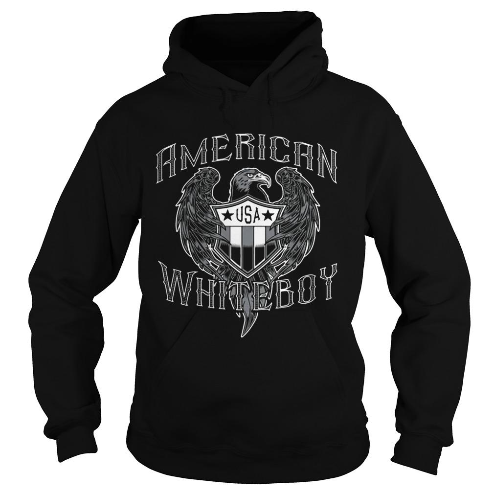 American White Boy Eagle Flag Shield Usa  Hoodie