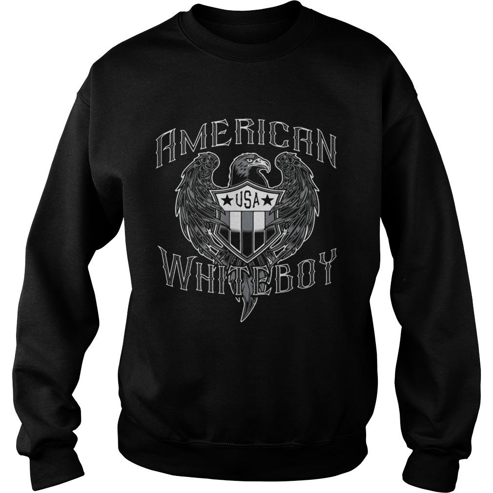 American White Boy Eagle Flag Shield Usa  Sweatshirt