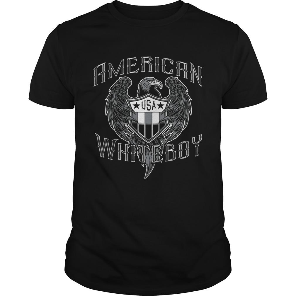 American White Boy Eagle Flag Shield Usa  Unisex