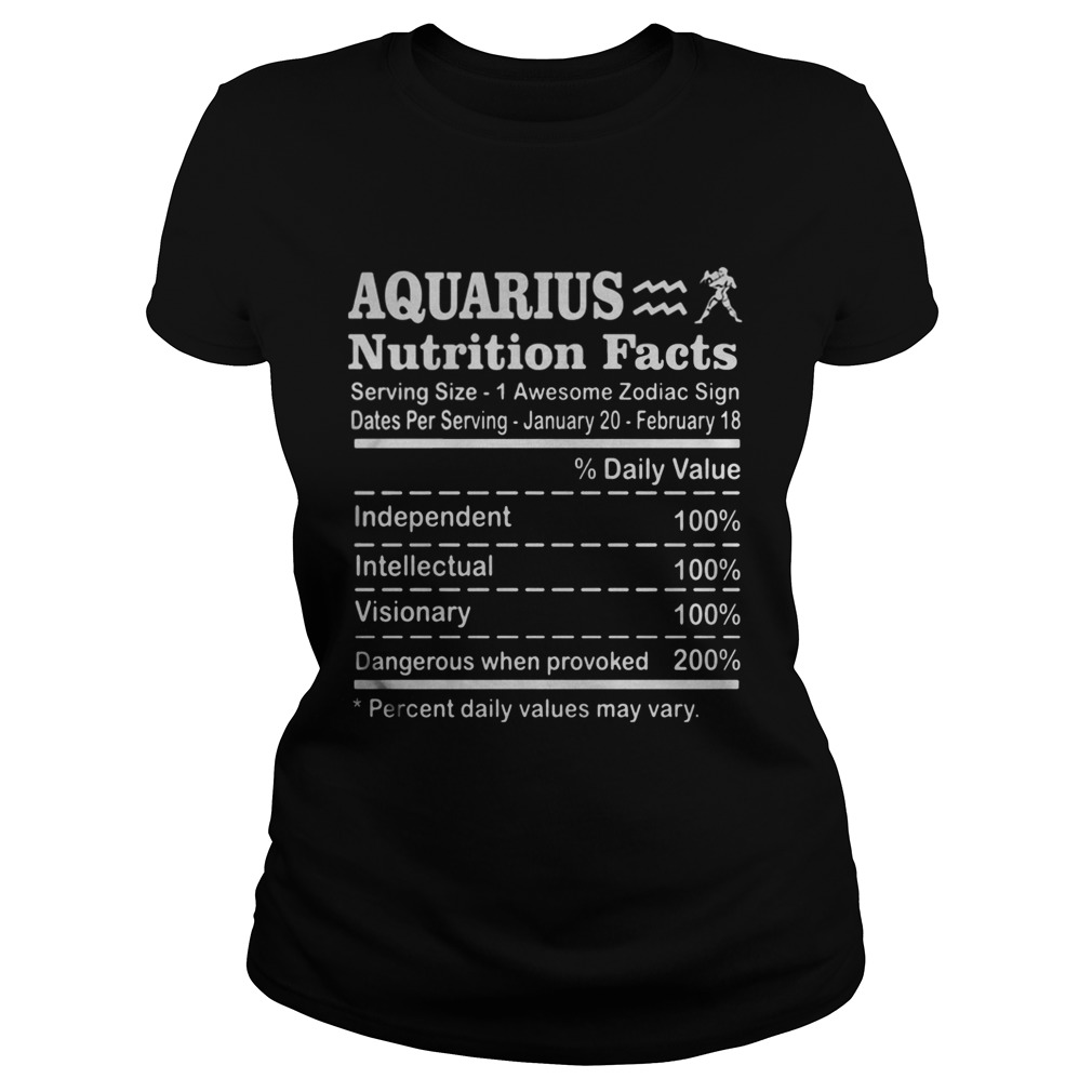 Aquarius Nutrition Facts Serving Size 1 Awesome Zodiac Sign Dates Per Serving January 20 February 1 Classic Ladies