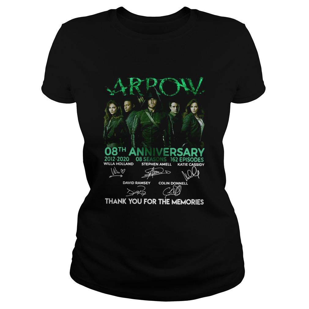 Arrow 08th Anniversary 20122020 08 Seasons 162 Episodes Signatures  Classic Ladies