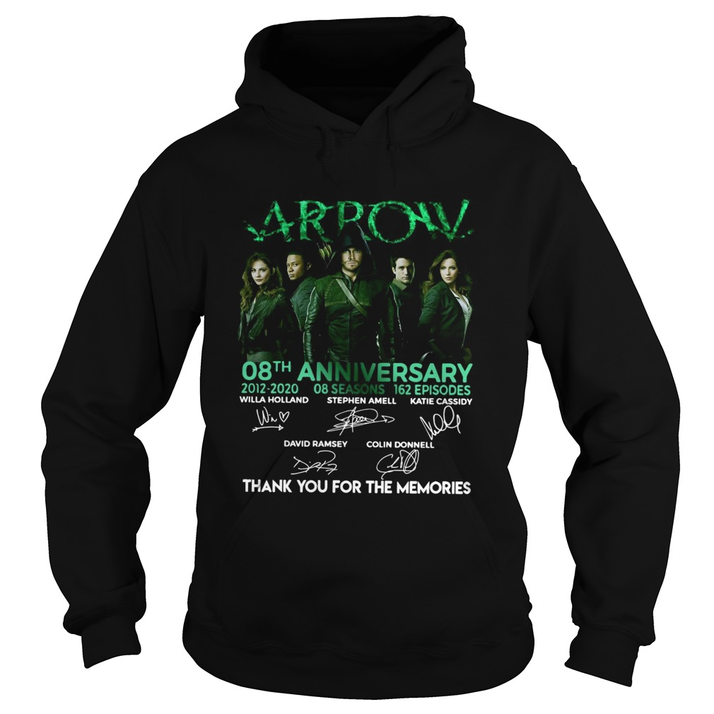 Arrow 08th Anniversary 20122020 08 Seasons 162 Episodes Signatures  Hoodie