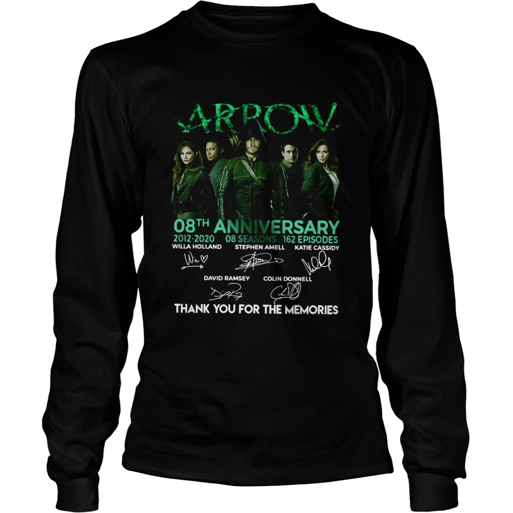 Arrow 08th Anniversary 20122020 08 Seasons 162 Episodes Signatures  Long Sleeve
