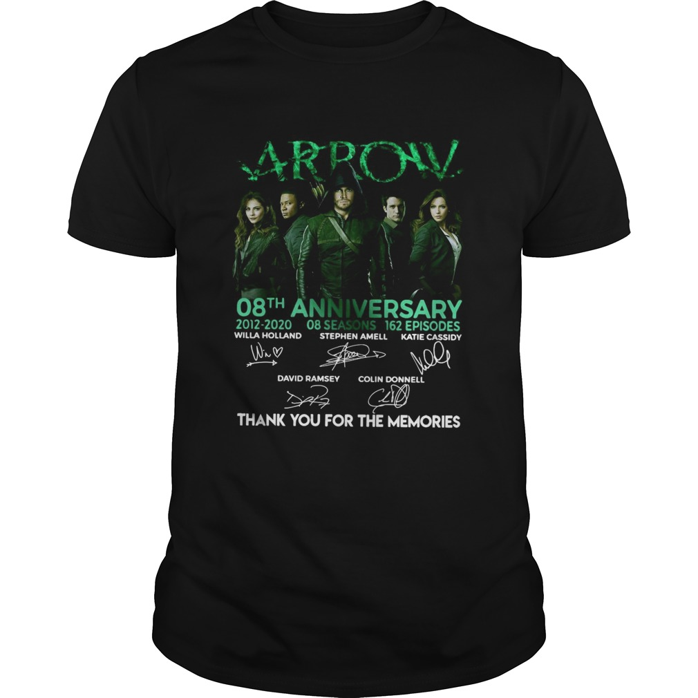 Arrow 08th Anniversary 20122020 08 Seasons 162 Episodes Signatures  Unisex