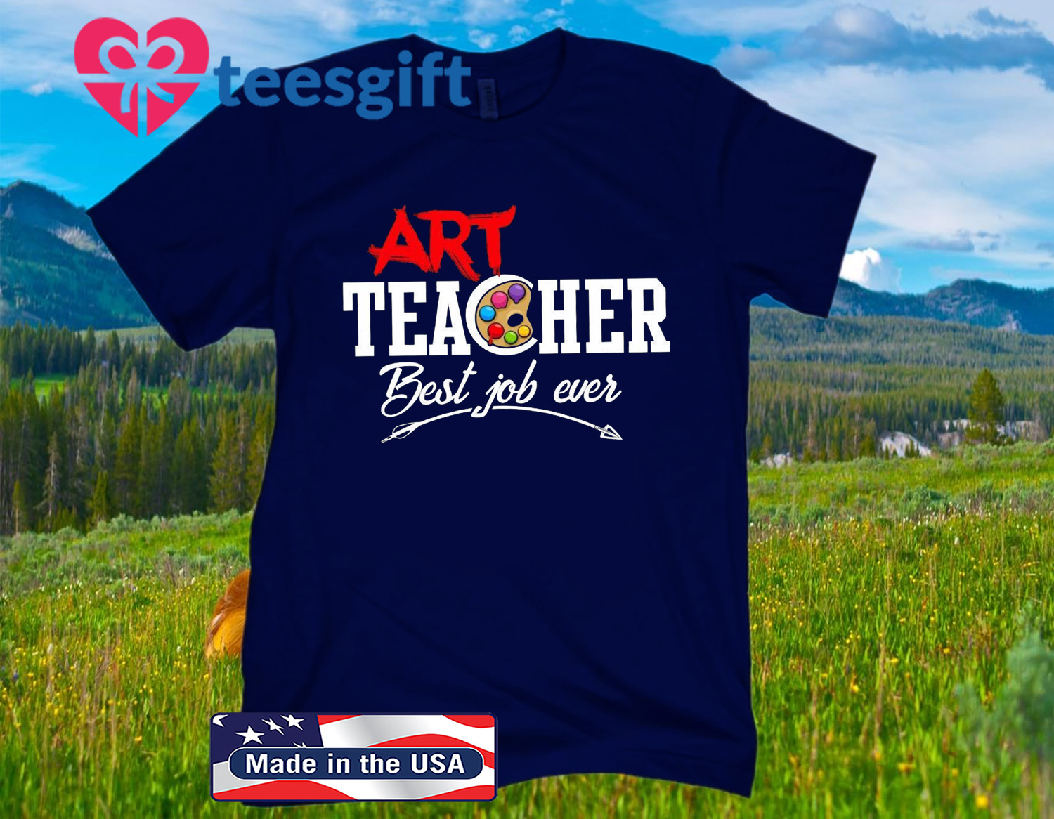 ART TEACHER BEST JOB EVER OFFICIAL T-SHIRT