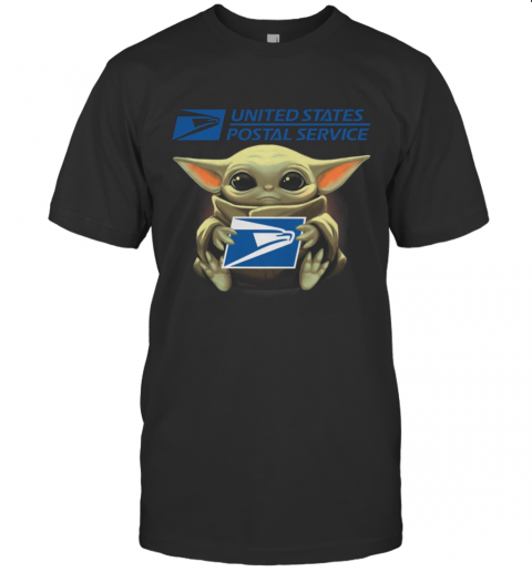 Baby Yoda Hug United States Postal Service It'S Dangerous To Go Alone Take This T-Shirt Classic Men's T-shirt