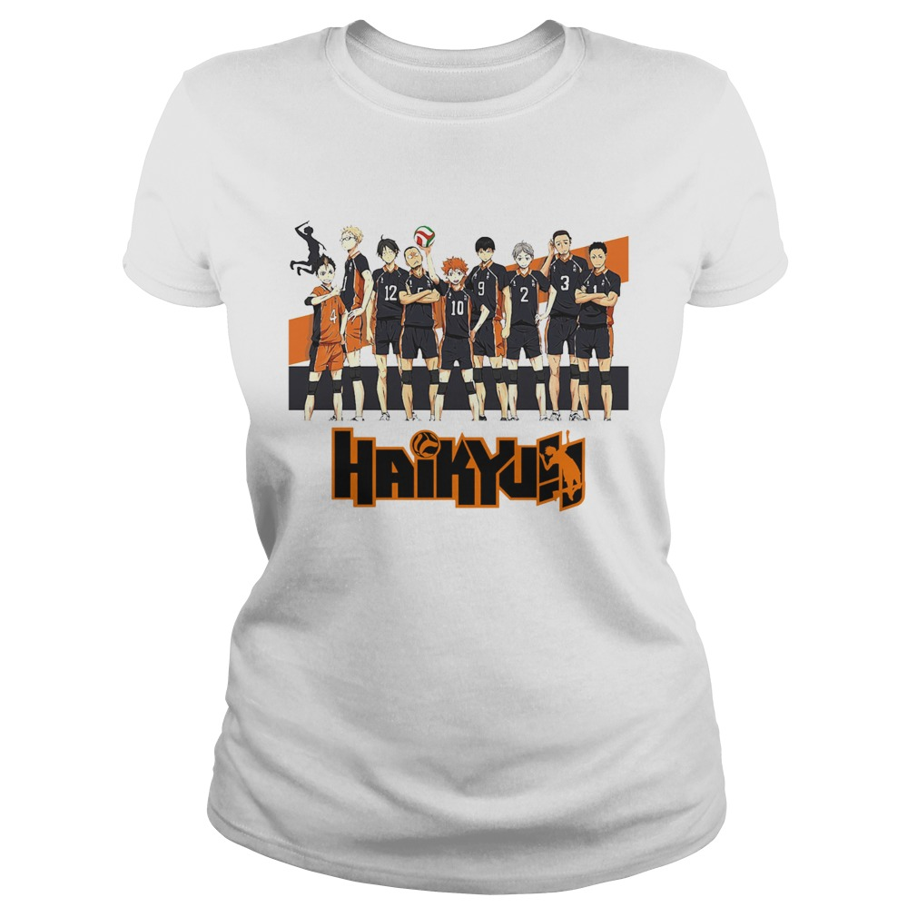 Bioworld Haikyuu Volleyball Team Fitted  Classic Ladies