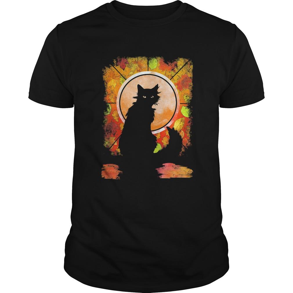 Black Cat Autumn  Unisex