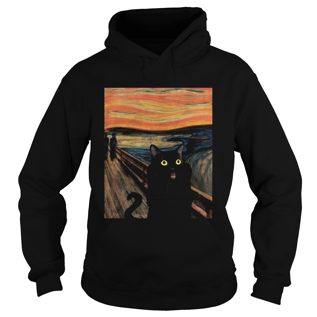 Cat Expressionism Painting  Hoodie