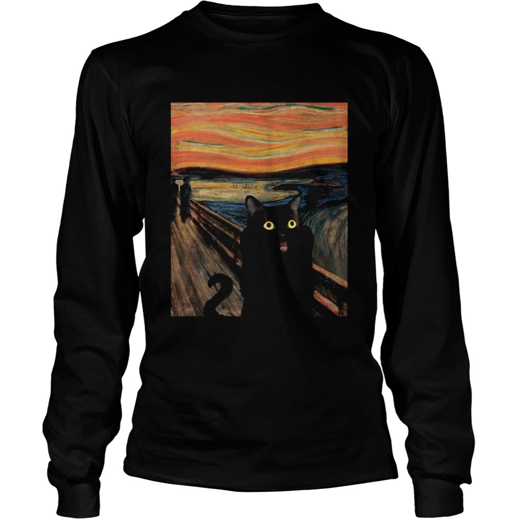 Cat Expressionism Painting  Long Sleeve