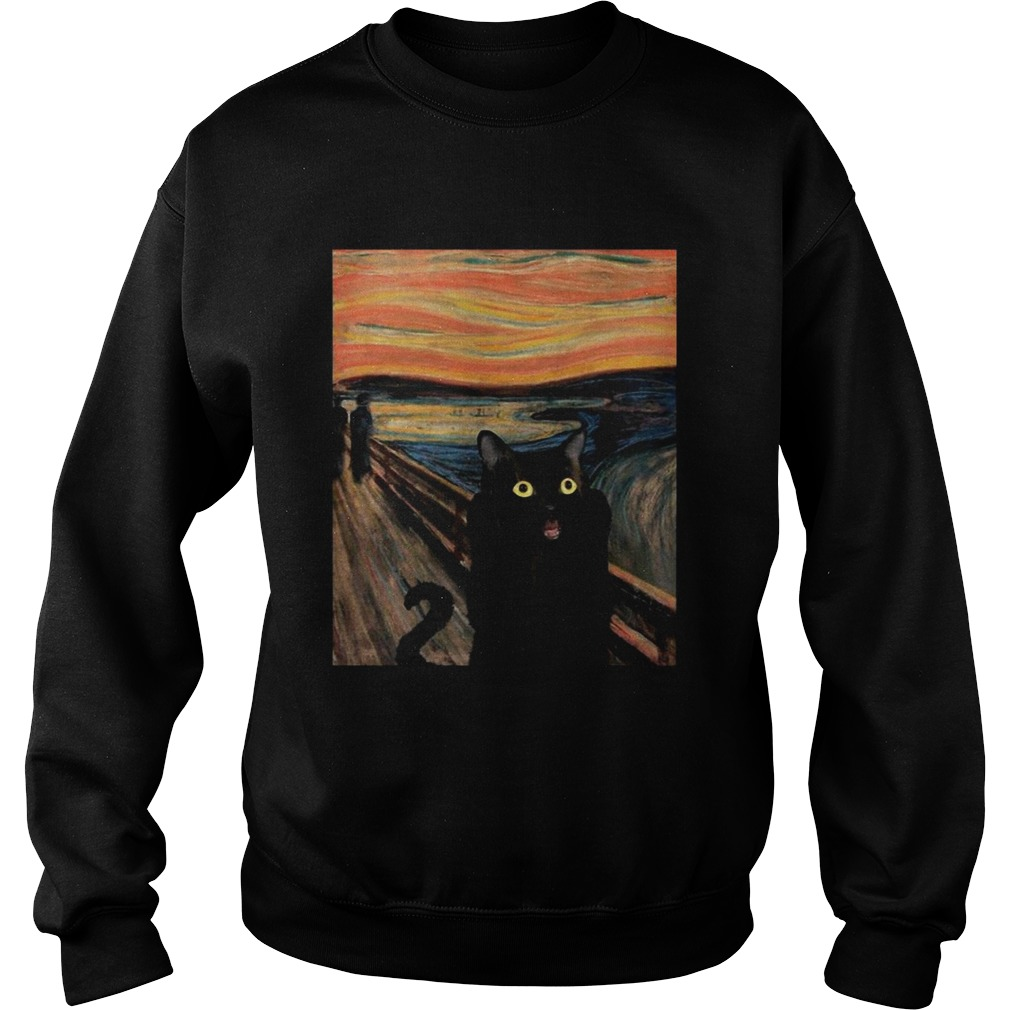 Cat Expressionism Painting  Sweatshirt