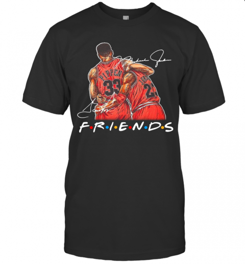Chicago Bull Michael Jordan And Scottie Pippen Friends Signatures T-Shirt Classic Men's T-shirt