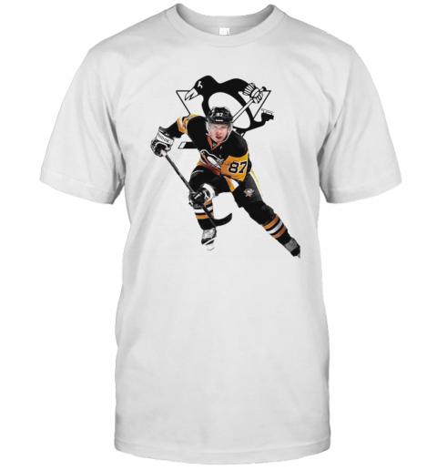 Crosby 87 Pittsburgh Penguins Hockey Team T-Shirt Classic Men's T-shirt