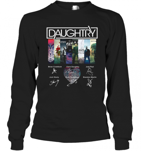 Daughtry Album Signature T-Shirt Long Sleeved T-shirt
