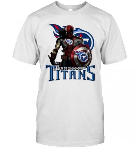 Deadpool Tennessee Titans Logo T-Shirt Classic Men's T-shirt