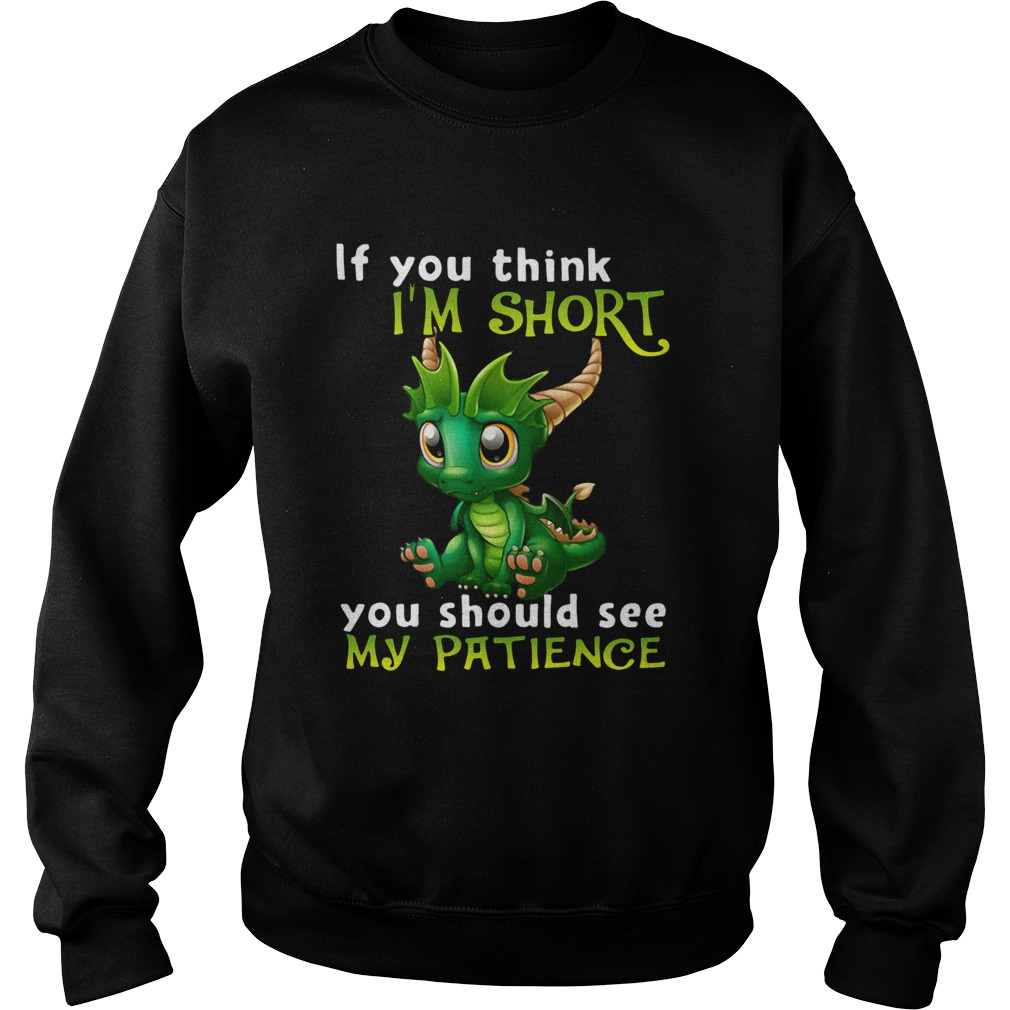 Dragon If You Think Im Short You Should See My Patience  Sweatshirt